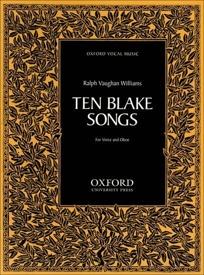 Ten Blake Songs, Paperback- Voice & oboe, Pieces & Studies - 9780193850262
