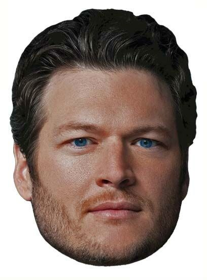 BLAKE SHELTON THE VOICE Coach Country Singer Big Head Window Cling Sticker Decal