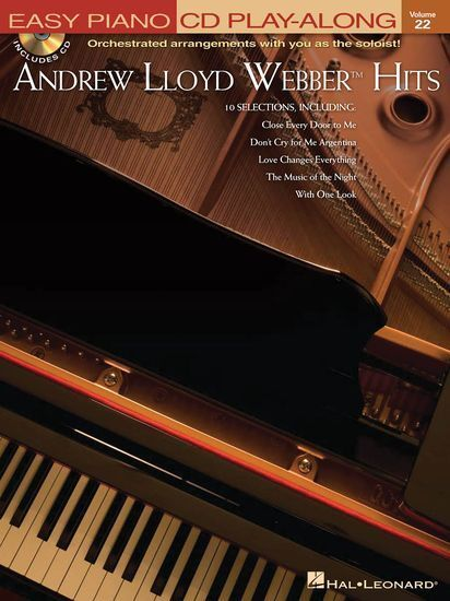 Easy Piano CD Play-Along Andrew Lloyd Webber Hits Learn to Play Music Book