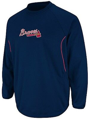 Atlanta Braves Majestic Authentic Therma Base Tech Fleece Navy Big & Tall -