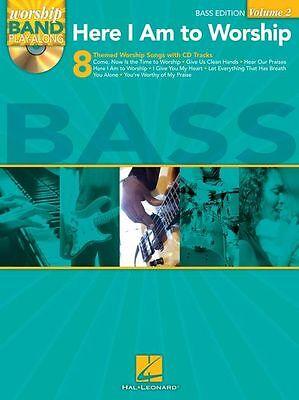 Worship Band Here I Am To Worship Bass Guitar Play Gospel Church Music Book & CD - Gospel Bass Guitar