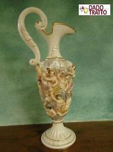 Grande vaso brocca ceramica r capodimonte numerato 5600 for Vaso capodimonte