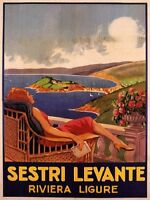 Sestri Levante - Riviera Ligure Poster 25x35 -  - ebay.it