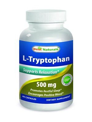 Best Naturals L Tryptophan 500 Mg 60 Capsules Helps Support Mood Relaxation