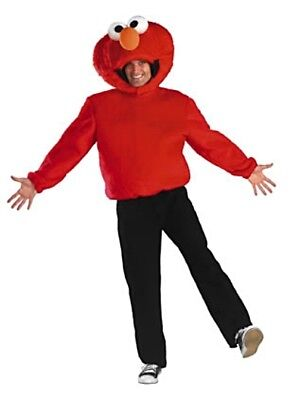 Mens Adult Licensed Deluxe Sesame Street Elmo Costume