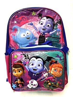 Disney Vampirina School Book Backpack With Lunch Box SET - Backpack With Lunchbox