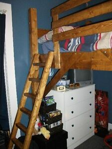 Nice Wooden Loft Bed (twin)