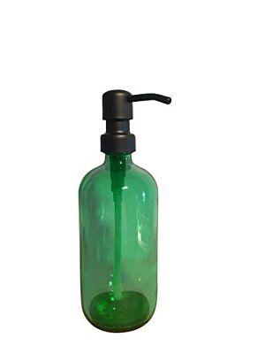 Green Soap Dispenser - 16oz Glass Pint Liquid Soap Holder Green Soap - 16 Ounce Dish Soap