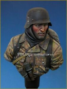 Young Miniatures Waffen SS WW2 Bust (2) YM1810 1/10th Unpainted Kit