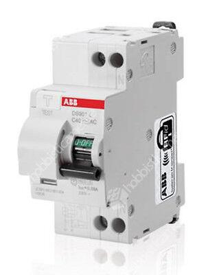 Interruptor Termomagnético Diferencial ABB DS901LC16 1P + N 16A 2 Módulos 30mA