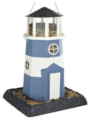 North States™ 9076 Large Nautical Blue/White Lighthouse Birdfeeder