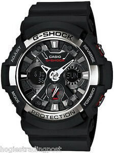 CASIO G-SHOCK BLACK MEN'S ANALOGUE DIGITAL WATCH GA-200-1AER - BRAND NEW