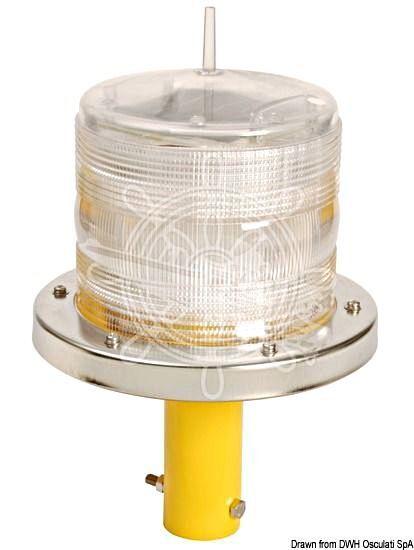 Osculati LED Light Lamp for Pontoons Buoys Hazards Entrances Red 4000m