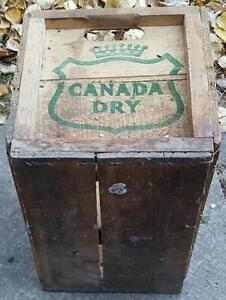 RP2188 Vintage Canada Dry Ginger Ale Soda Pop Wood Wooden Crate Kawartha Lakes Peterborough Area image 6