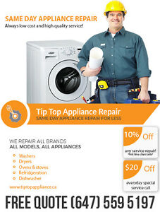 Toronto Area Home Appliance Repair Service