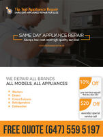 Professional Appliance Repair - We Service All Appliances