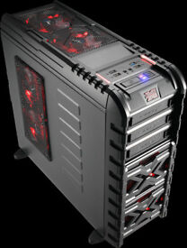 Aerocool Strike-X GT Mid-range Gaming Tower Case Seller Refurbished with 2 Red LED Fans