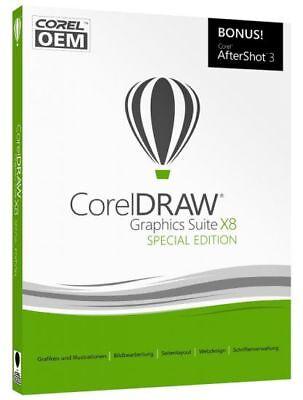 Corel DRAW Graphics Suite X8 Special Edition OEM mit AfterShot 3 VBA Deutsch Box