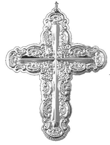 2000 Wallace Grande Baroque Cross Sterling Christmas Ornament 5th Edition