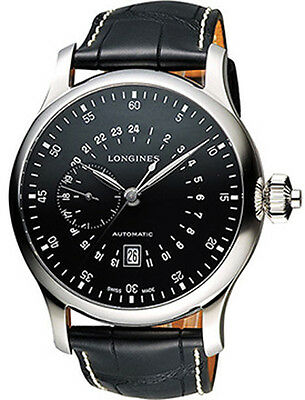 L2.797.4.53.0 | LONGINES HERITAGE | BLACK DIAL 47.5MM MENS AUTOMATIC WATCH