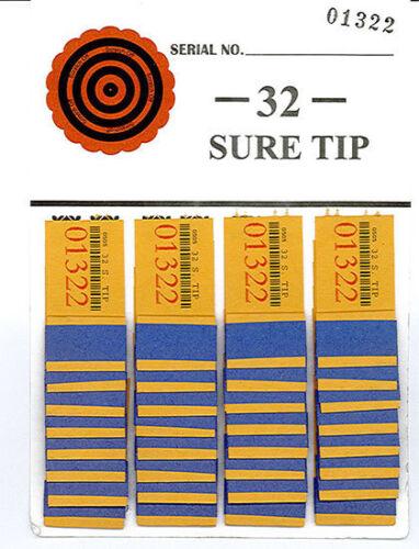One Dozen # 32 Sure Tip Boards (1-32) Bingo/Jar Tickets  Free Shipping USA
