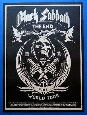 Black Sabbath The End Shepard Fairey Lithograph/Poster 2016 Tour Dates NEW !