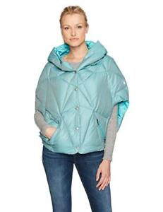 NEW Spyder Active Sports Women's Solitude Down Poncho Baltic Med
