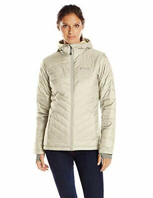 Columbia Sportswear Women Omni-Heat Jacket Mighty Lite Hooded Plush Chalk XS (Columbia Sportswear Plush)