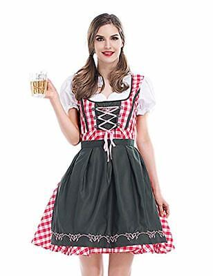 Oktober Fest Dress (Women's German Oktoberfest Dirndl Dress Bavarian Beer Maid Costume for)
