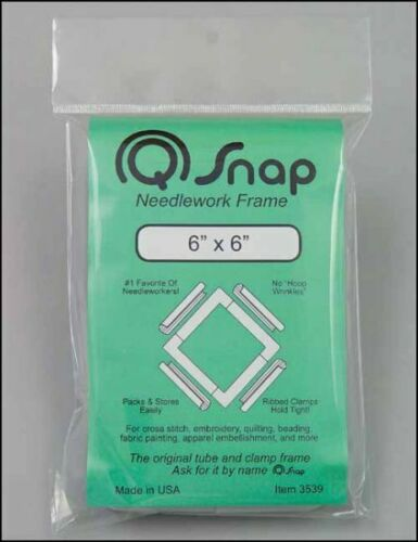 Q-SNAP Cross Stitch Embroidery Needlework FRAME 6 x 6 NIP MADE In The USA