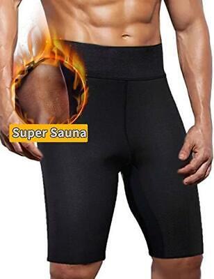 Men's Sweat Sauna Pants Thermo Slimming Shorts Thigh Shaper Neoprene Fat Burner - Neoprene Sweat Shorts