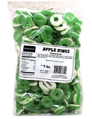 Bulk Gummy Candy (Gummi Apple Rings 5lb Bulk Deal - Gummy)