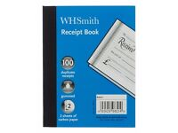 1x box (30 books) of W H Smith Receipt Books brand new