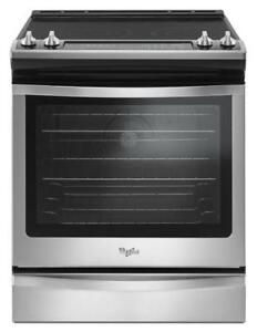 "Whirlpool YWEE745H0FS 30"" Electric Range 6.4 cubic ft,  Self Clean, Convection"
