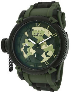invicta mens watch camouflage new mens invicta 1197 swiss made russian diver green army camouflage watch
