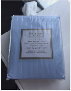 Brand new Egyptian cotton queen sheet set (1000 thread count)