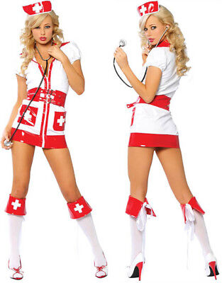 Flirty Hospital Risque Nurse Sexy Women's Halloween Costume Party cloting Set - Risque Kostüm