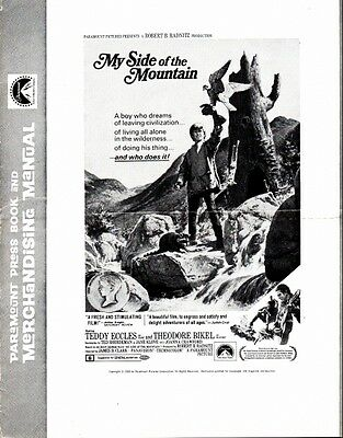 MY SIDE OF THE MOUNTAIN pressbook, Teddy Eccles, Theodore Bikel, Joana Crawford