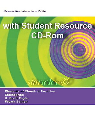 NEW w Color Elements of Chemical Reaction Engineering 4th Edition + CD Fogler (Elements Of Chemical Reaction Engineering 4th Edition)