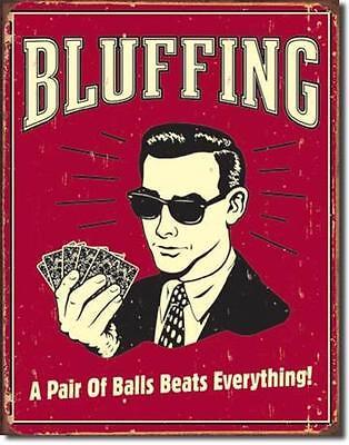 Kartenspieler USA Vintage Design Casino Metall Schild