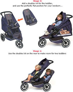 Used Phil & Teds Sport double stroller