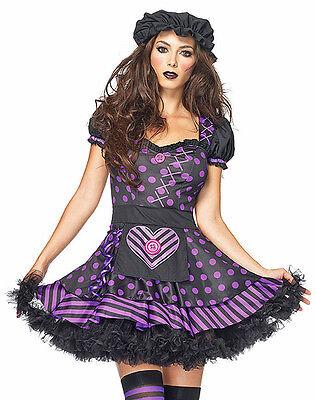 Dark Dollie Gothic Raggedy Ann Costume, Leg Avenue 83830, 2 Piece, Size XS S M L - Gothic Raggedy Ann Costume
