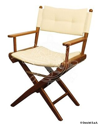 ARC Teak Chair Sand Padded Fabric