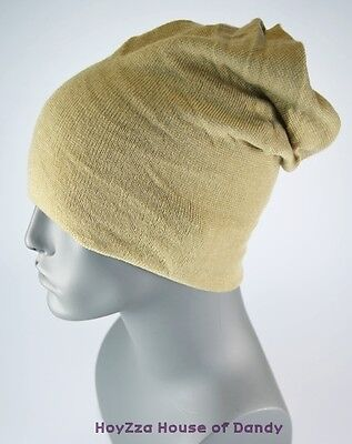 Mens Top Open Whirl Wind Style Baggy Long Beanie Light-weight & Soft Board Hat-5