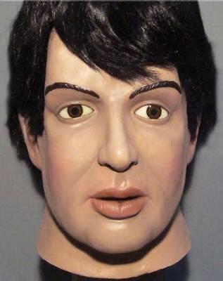 PAUL MCCARTNEY LATEX MASK -- Costume Prop The Beatles Fab Four Cosplay - Beatles Halloween Mask