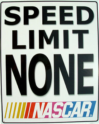 Wholesale Stock Set of 25 Nascar Speed Limit None Racing Car Metal Signs - Metal Signs Wholesale