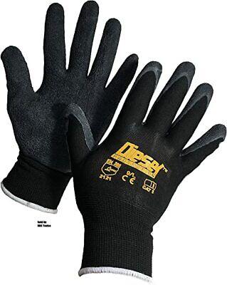 12 Pair Diesel Black Safety Gloves Latex Coated Grip