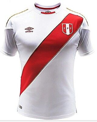 AUTHENTIC UMBRO PERU SOCCER HOME JERSEY - WORLD CUP RUSSIA 2018 - NEW 0878f95b0