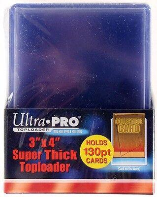 10 Ultra Pro 130pt 3x4 Super Thick Toploaders toploader New top loaders Jersey