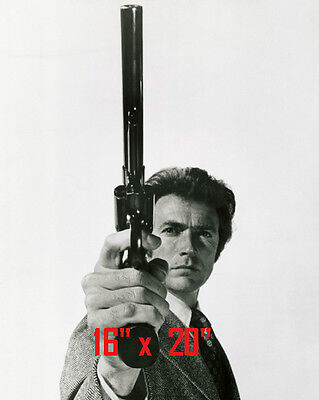 B&w 16x20 Foto (Dirty Harry~Clint Eastwood~Police Inspector~Cop~Photo~B&W~Poster~  16